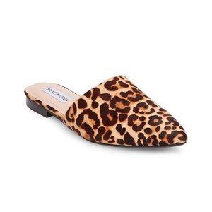• Steve Madden Calf-Hair Leopard Print Mules •